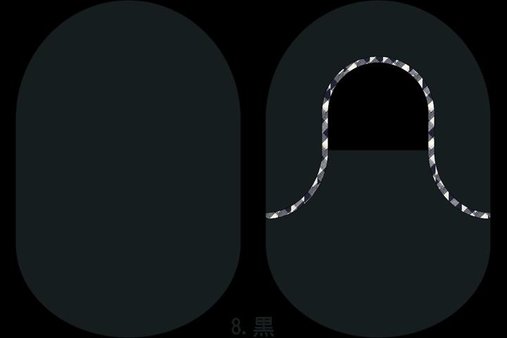 """着せ替えストーマパウチカバー""""カバコさん""""8.黒"""