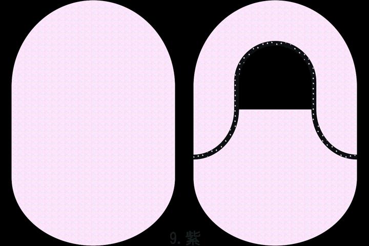 """着せ替えストーマパウチカバー""""カバコさん""""9.紫"""
